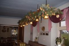 Weihnachtsdeko im Gastraum