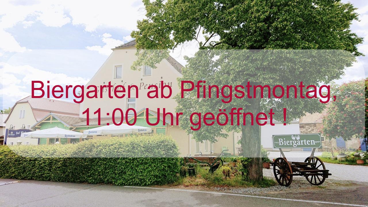 Biergarten Gasthof Dreistern geöffnet